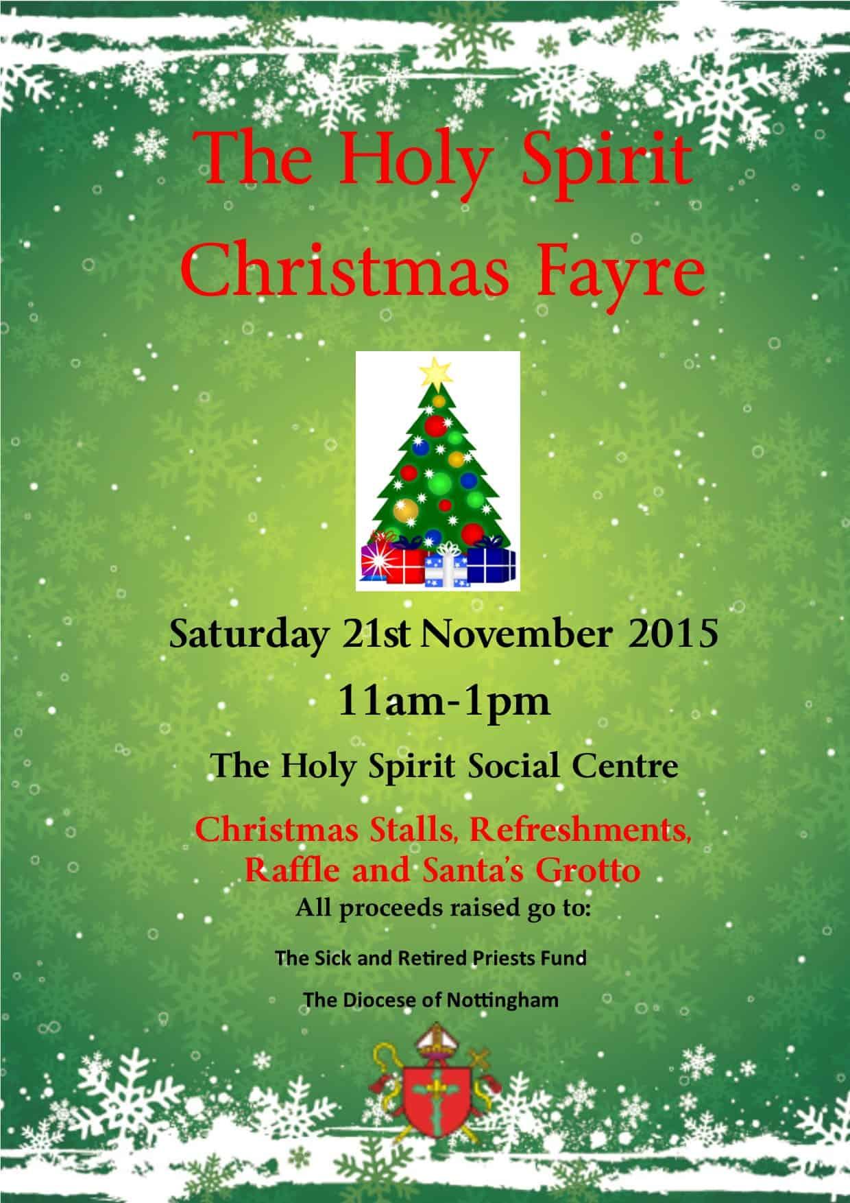 Christmas Fayre 2015 Poster