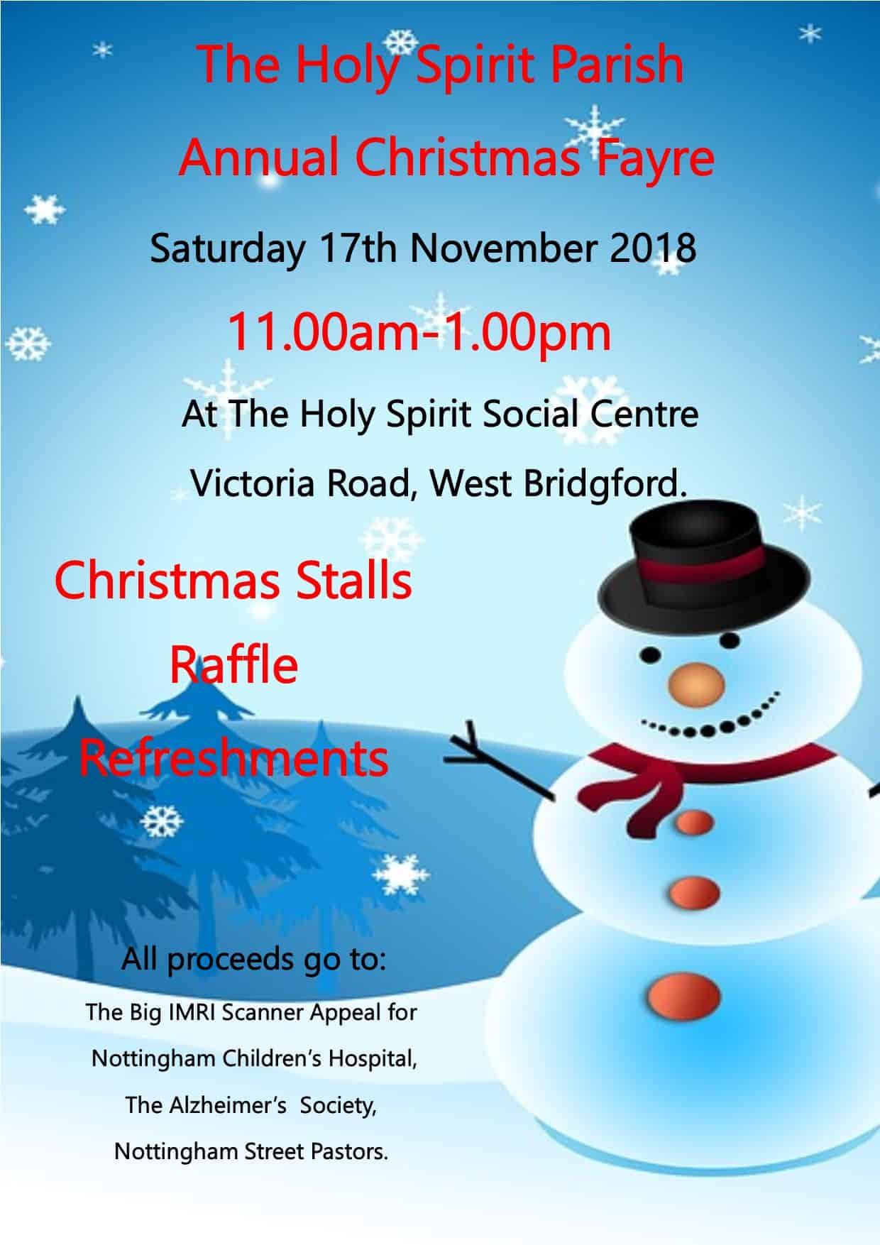 Christmas Fayre Poster 2018
